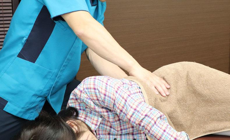 腰部挫傷の治療写真
