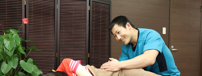 腰痛患者の写真